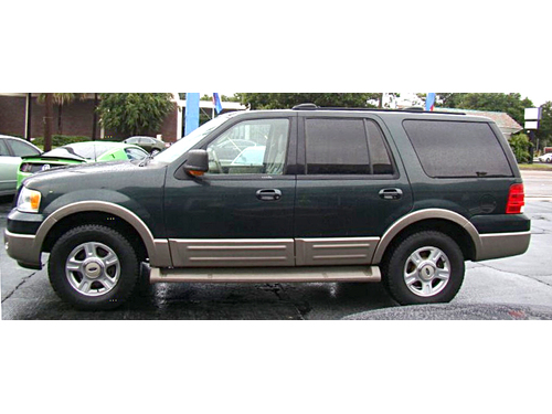2003 FORD EXPEDITION EDDIE BAUER 4WD 4WD On Demand In Dash MP3-CD Roof Rack Running Boards Call