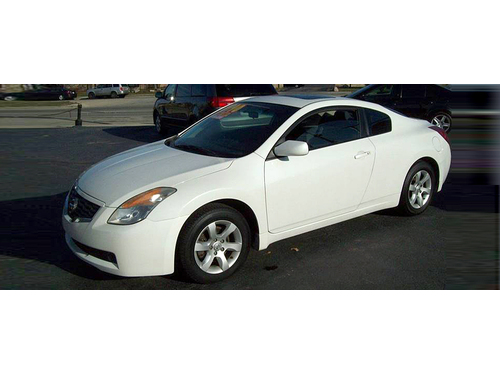2008 NISSAN ALTIMA COUPE 25S Sunroof Steering Wheel Ctrls Alloy Wheels White Hot Coupe Call 1-