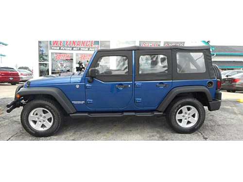 2009 JEEP WRANGLER UNLIMITED X 4X4 Clean Carfax- No Accidents Great Trail Rated 4X4 Aux Input Tow