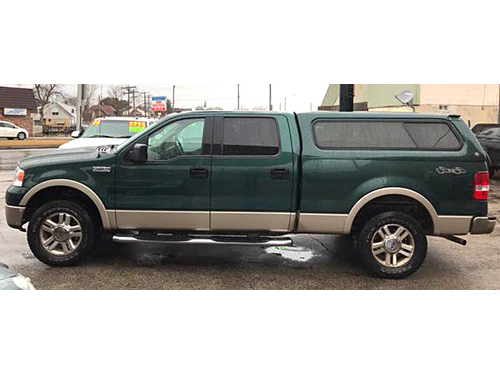 2007 FORD F150 LARIAT 4X4 SuperCrew V8 Leather Seats Climate Ctrl Steering W