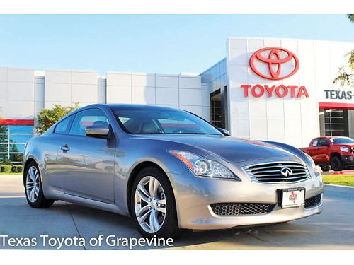08 INFINITI G37 JOURNEY COUPE AC DUAL ALLOYS AUTO  PIEL QUEMAC 2PTS 8M12285T 817 912-2978