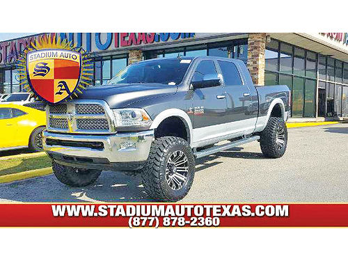 14 DODGE RAM 2500 LARAMIE 4X4 AC DUAL ALLOYS AUTO  CUSTOM RIMS DIESEL ESTRIBOS LIFTED PIEL