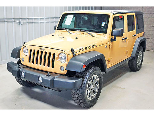 14 JEEP WRANGLER UNLIMITED RUBICON PIEL 35K TOW PKG ONE OWNER HEATED SEATS HARD TOP 19213 85