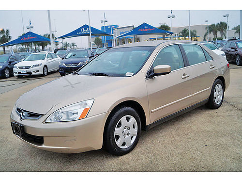 05 HONDA ACCORD LX 24 AUTO SUPER LIMPIO 4 PTS 163387A 888 898-1044 5895
