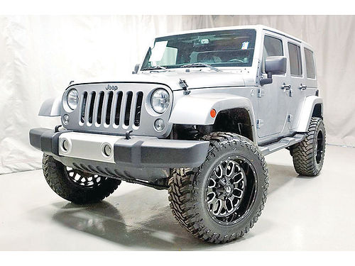 14 JEEP WRANGLER UNLIMITED LIFTED SISNAV ONE OWNER 19377 855 793-6643