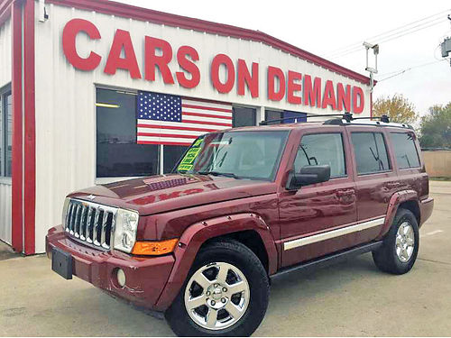 07 JEEP COMMANDER 2WD LIMITED AC DUAL ALLOYS AUTO S-530932 713 358-4635 7995