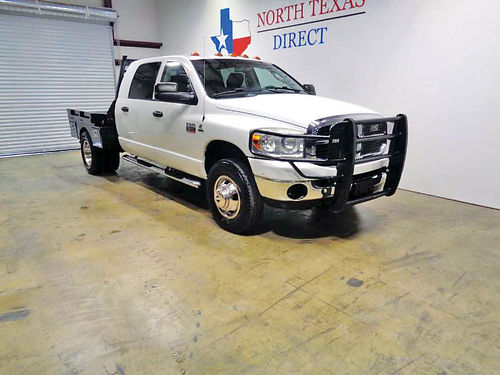 09 DODGE RAM 3500 FLAT BED 4X4 AUTO CUSTOM RIMS DIESEL ESTRIBOS 888 231-0473 18490