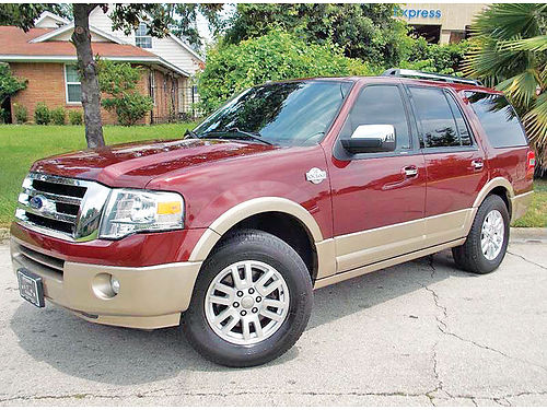 13 FORD EXPEDITION KING RANCH 3RA FILA AC DUAL ALLOYS AUTO CAMARA TRASERA ESTRIBOS PIEL QUE