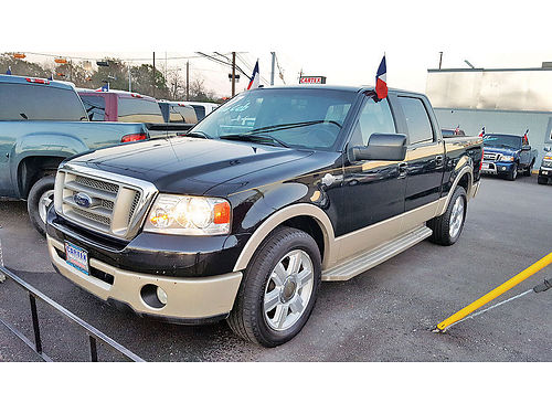 07 FORD F-150 KING RANCH ESTRIBOS PIEL QUEMAC AC TELEC CD CREW CAB SUPER NICE 713 777-47