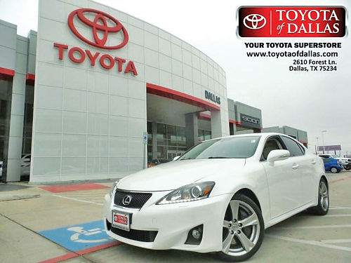 12 LEXUS IS 350 AC DUAL ALLOYS AUTO PIEL QUEMAC 4PTS C5030791 866 213-4016 243MES