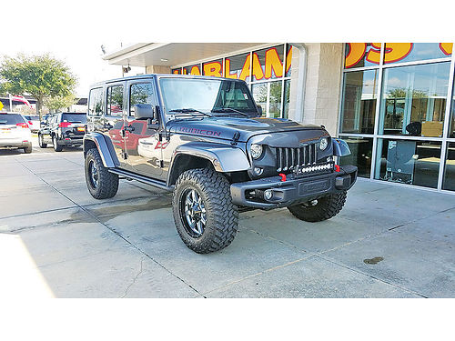 17 JEEP WRANGLER UNLIMITED RUBICON AC DUAL AUTO BAJAS MILLAS LIFTED PIEL 4 PTS RINES DE 18