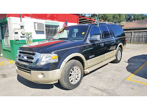 08 FORD EXPEDITION EL EDDIE BAUER 3RA FILA AUTO PIEL TVDVD AC TELEC CD 713 574-1581