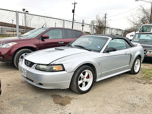 99 FORD MUSTANG GT ALLOYS AUTO PIEL 2 PTS AC TELEC CD VAJUST 281 536-5858 2500