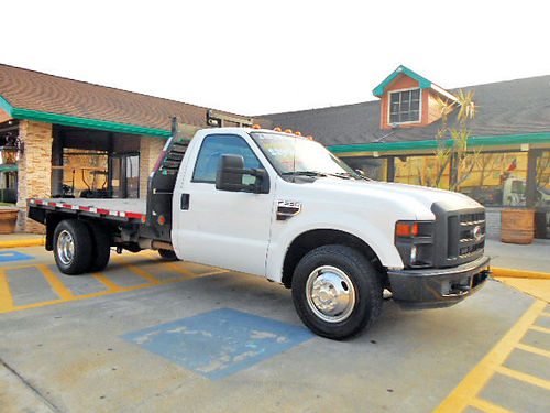 08 FORD F-350 FLAT BED V864L POWER STROKE 166K MILLAS AC 713 780-1616 10850