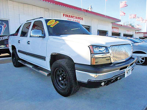 04 CHEVY AVALANCHE ALLOYS AUTO QUEMAC 4 PTS AC TELEC CD VAJUST 713 358-4430 995ENG