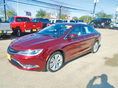 15 CHRYSLER 200 LIMITED 4 CIL AC DUAL ALLOYS AUTO BAJAS MILLAS SUPER LIMPIO 713 772-7466 1