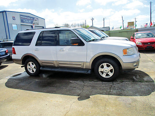 03 FORD EXPEDITION 3RA FILA AUTO PIEL QUEMAC AC TELEC CD 713 360-7254 1700ENG