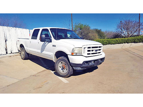04 FORD F-250 XLT FX4 4X4 AC DUAL ALLOYS AUTO DIESEL 4 PTS SUPER DUTY 817 717-2562 7500