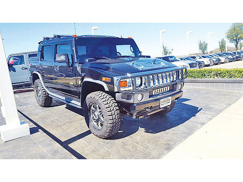 06 HUMMER H2 PICK UP AC DUAL AUTO CUSTOM RIMS LUXURY PACKAGE PIEL SUPER LIMPIA 4 PTS COVERT