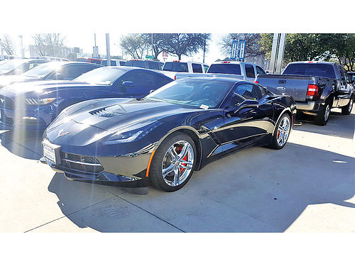 16 CHEVY CORVETTE STINGRAY AUTO BLUETOOTH CUSTOM RIMS LUXURY PACKAGE PIEL SISNAV V8 214 73