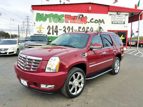13 CADILLAC ESCALADE LUXURY 3RA FILA AC DUAL ALLOYS AUTO LUXURY PACKAGE PIEL QUEMAC SISNAV