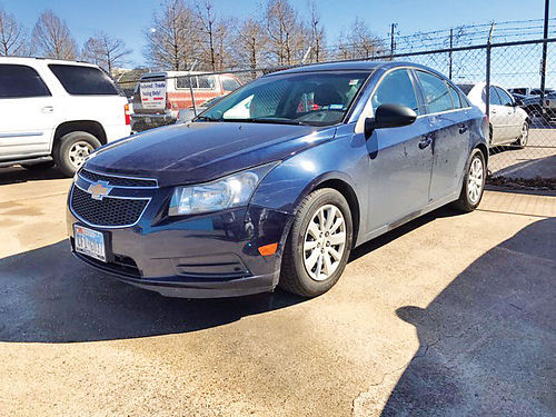 11 CHEVY CRUZE LT 4 CIL AC DUAL ALLOYS AUTO 4 PTS T7113596 214 442-0764 8900