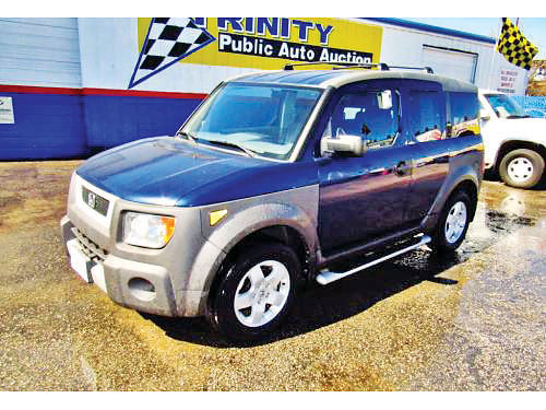 03 HONDA ELEMENT EX 4 CIL AC DUAL ALLOYS AUTO 4 PTS 14276 214 442-0747 3496