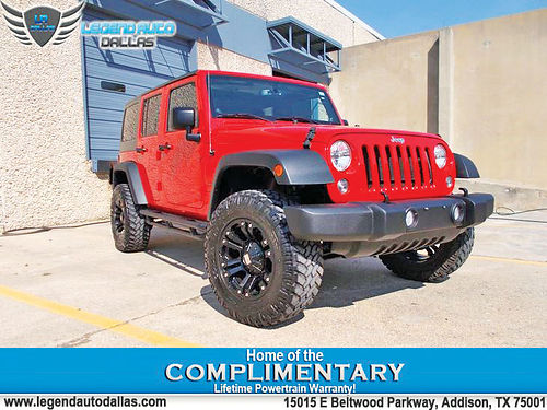 14 JEEP WRANGLER UNLIMITED SPORT AUTO BLUETOOTH CUSTOM RIMS ESTRIBOS LIFTED HARDTOP OVERSIZED