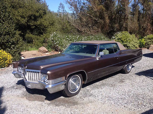 1970 CADILLAC DEVILLE COUPE straight clean excellent shape leather int runs great 8200 707-4