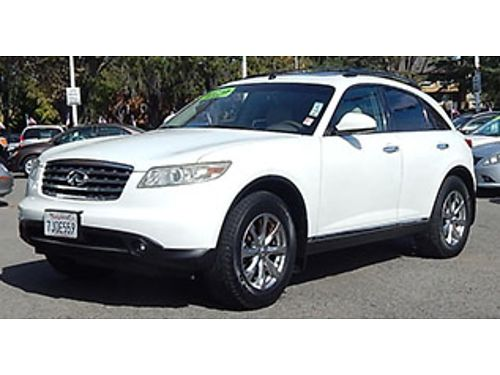 2008 INFINITI FX35 - Backup cam sunmoonroof leather premium rims 8888 P7920-206542 Autos W