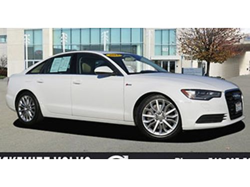 2013 AUDI A6 - Auto PW PL CD leather alloys moonroof alarm bucket seats low miles 1 owner