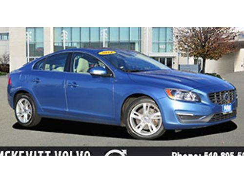 2014 VOLVO S60 T5 PREMIER - Auto alloys PW PL CD leather moonroof bucket seats low miles le