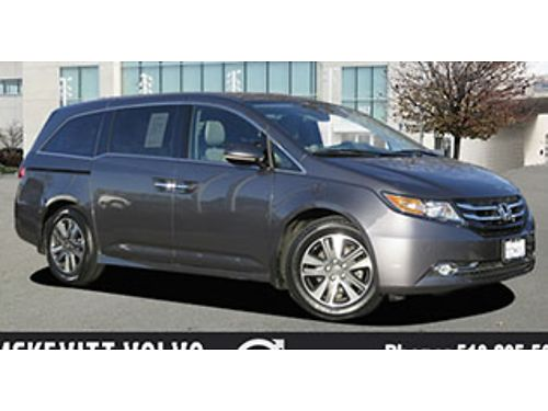 2015 HONDA ODYSSEY MINIVAN - Auto PW PL CD navigation leather spoiler DVD alloys 3rd row 1