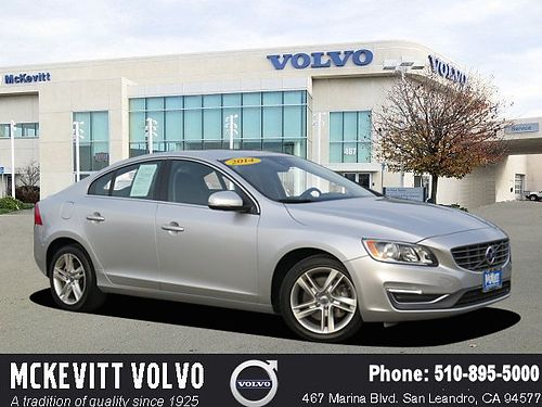 2014 VOLVO S60 T5 Premier - Auto alloys PW PL CD leather moonroof low miles lease return 1