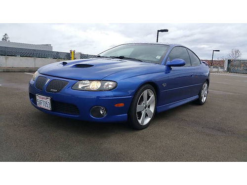 2006 PONTIAC GTO 60L V8 - Leather spoiler 24k miles A beast not for weak hearted 1009-561674