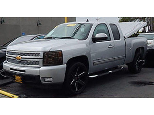 2013 CHEVY SILVERADO 1500 - extended cab LTZ Leather luxury pkg prem wheels low miles Tonneay b
