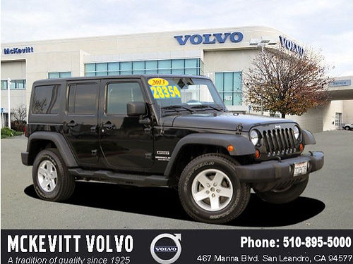 2013 JEEP WRANGLER UNLIMITED Sport - auto PW PL CD low miles premium wheels bucket seats one