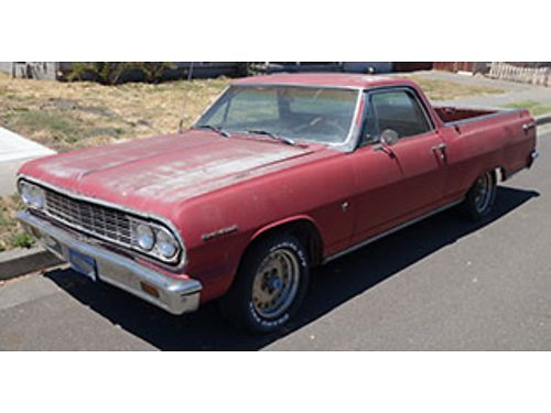 1964 CHEVROLET EL CAMINO - As Is restoration vehicle 283 V8 4spd transmission 6500 or serious