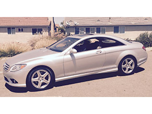2007 MERCEDES CL 550 fully loaded luxury vehicle factory AMG style pkg 74K low miles Salvage tit