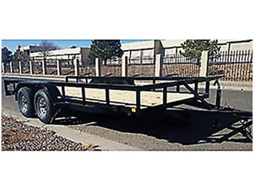 2018 FLAT BED UTILITY TRAILER 16FT LONG, ...