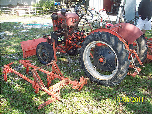 1942 ECONOMY TRACTOR Rare Antique Victory Garden type all attachments 1 bottom 12 turn plow bel