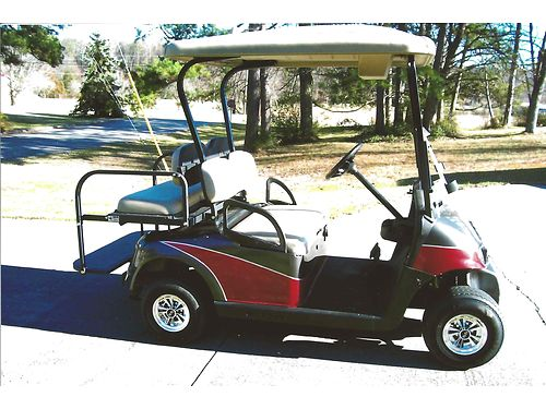 2009 EZGO RXV GOLF CART wbeautiful custom paint 48v New batteries charger windshield lights r