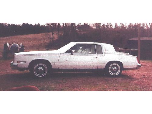 1982 CADILLAC EL DORADO BIARRITZ HT 4100 white 2dr wleather V8 auto digital fuel injection air