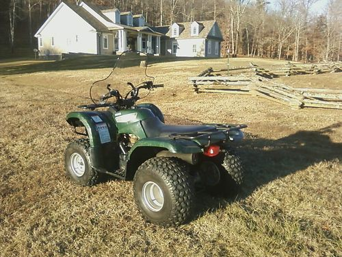 2006 YAMAHA GRIZZLY 125 Dark Green 2wd front  rear racks windshield Less than 5 hours on rebu