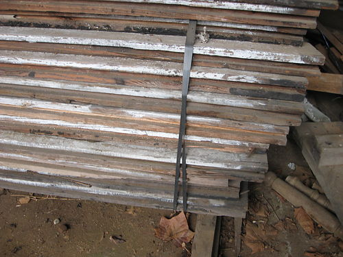 LUMBER Antique Heart Pine Decking 185yr old 3x 8w x 10l 400 board at 250 per foot No text