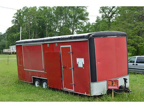 ENCLOSED TRAILER by United Express 24l 115h had been set up as Traveling Olde Time Photo Bus