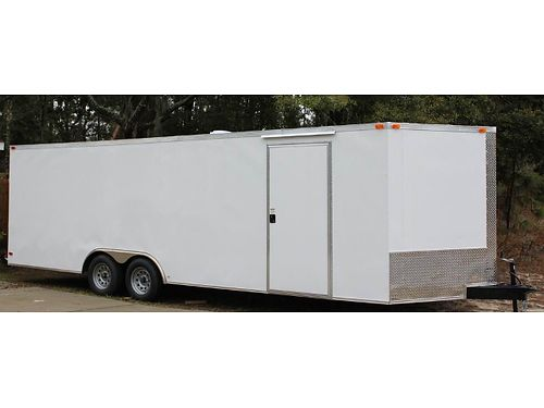 We Build Custom Trailers NEW 85x24 V-Nose Car Hauler 2 3500lb Axles elec brakes HD Rear