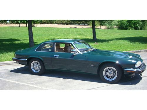 1993 JAGUAR XJS recent expensive respray of original British Racing Green wtan leather interior 6