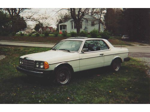 1978 MERCEDES 300CD COUPE 2dr Diesel not currently running was running when parked solid body n