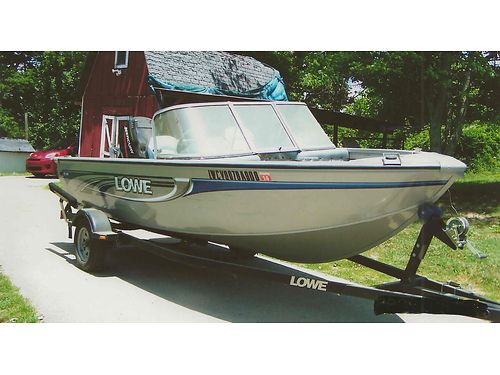 2008 LOWE FISH  SKI 16 Aluminum 90hp Mercury fishdepthfinder swivel  extra seating livewell